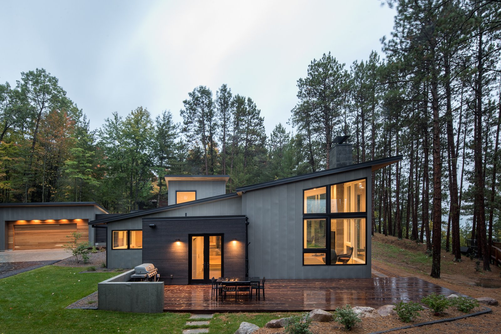Northern lake home by strand design dwell for Lake house construction