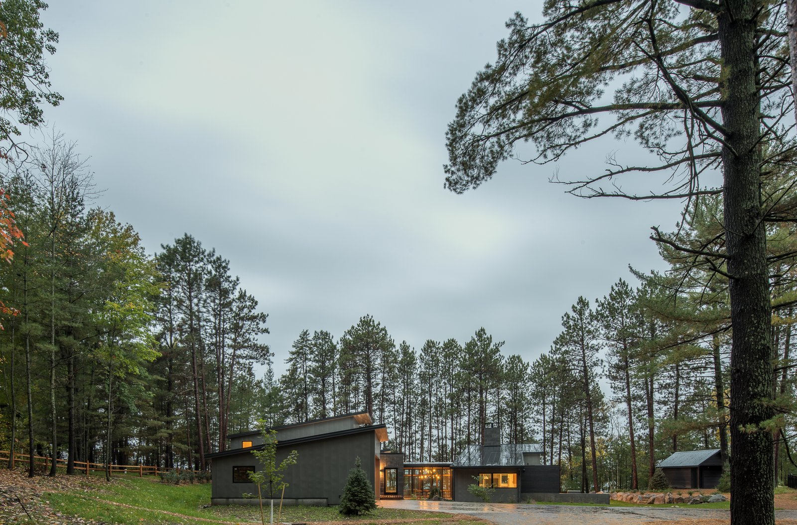 Tagged: Exterior, Cabin, House, Metal, Wood, Concrete, Metal, Stone, Flat, and Shed.  Best Exterior Shed Metal Photos from Northern Lake Home