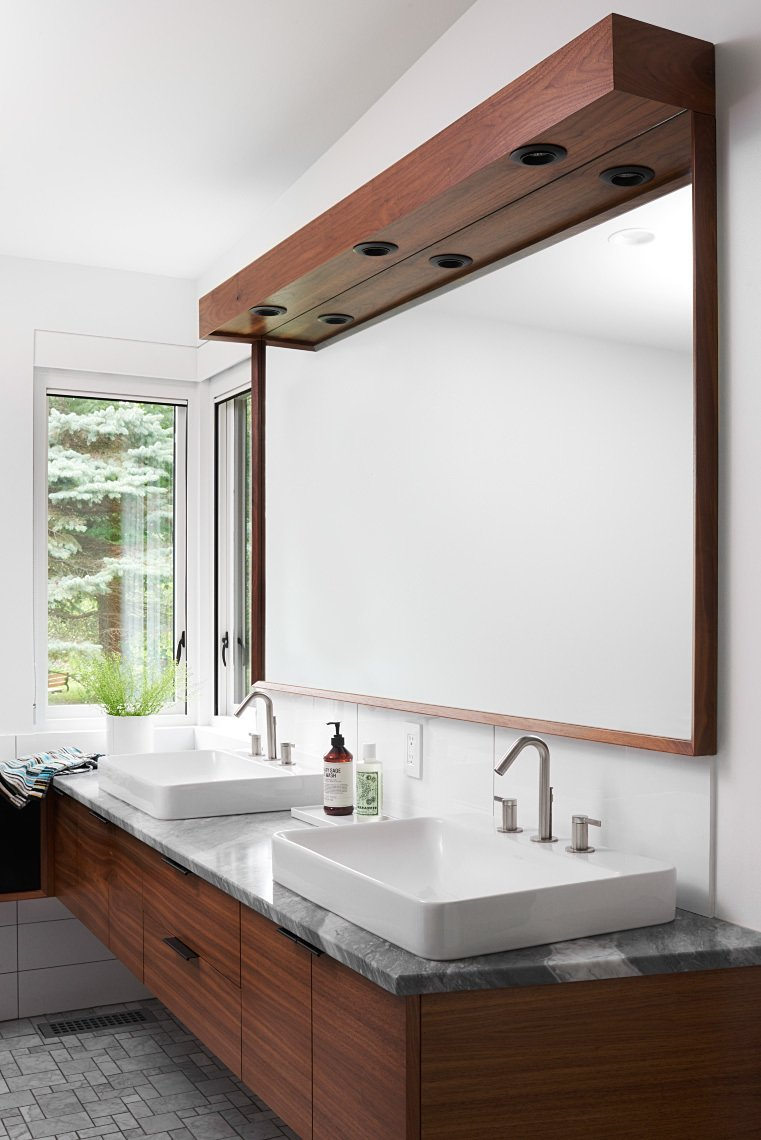 Tagged: Bath, Marble, Porcelain Tile, Wall Mount, Ceiling, and Wall.  Best Bath Wall Wall Mount Photos from Theodore Wirth Ranch