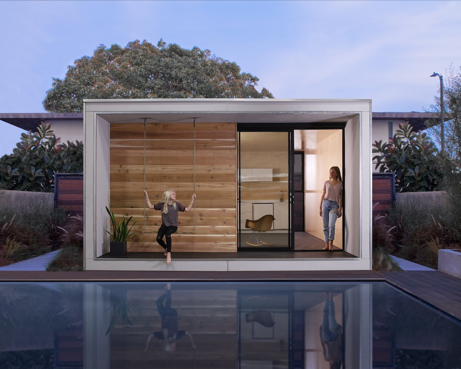 This tiny icelandic inspired prefab could ease the for Prefab granny unit california