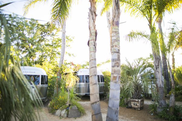 Located in Eastern Ojai, Caravan Outpost enjoys close proximity to downtown, yet its oasis-like enclosure of palm trees and lush landscaping makes you feel a world away.