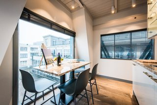 Elevate Your Next Amsterdam Experience With This Unique Crane Rental - Photo 4 of 13 - The dining area offers exceptional views.