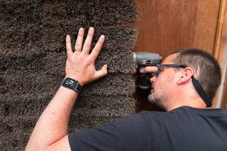 """A Quirky Micro-Office Hides Behind a """"Hairy"""" Facade - Photo 2 of 11 - The """"hairy"""" exterior is comprised of 546 interlocking broom heads."""