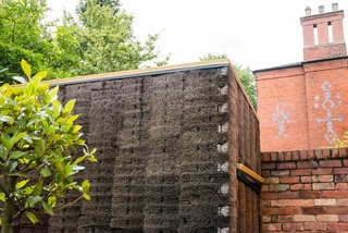 """A Quirky Micro-Office Hides Behind a """"Hairy"""" Facade"""
