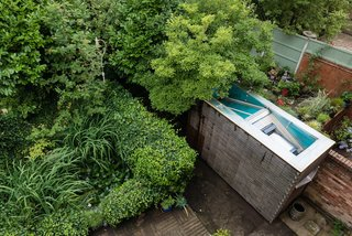 """A Quirky Micro-Office Hides Behind a """"Hairy"""" Facade - Photo 6 of 11 - The micro-office was built from a former garden shed."""