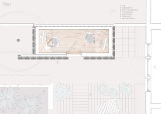 """A Quirky Micro-Office Hides Behind a """"Hairy"""" Facade - Photo 11 of 11 - Here is the layout from above."""