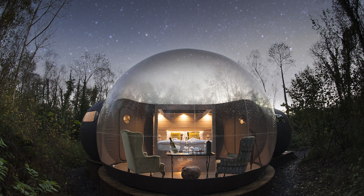 The cozy Bubble Domes include heating.