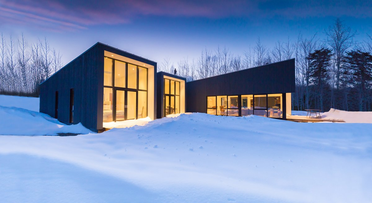 Lake House Modern Home In Nova Scotia, Canada By Nicholas