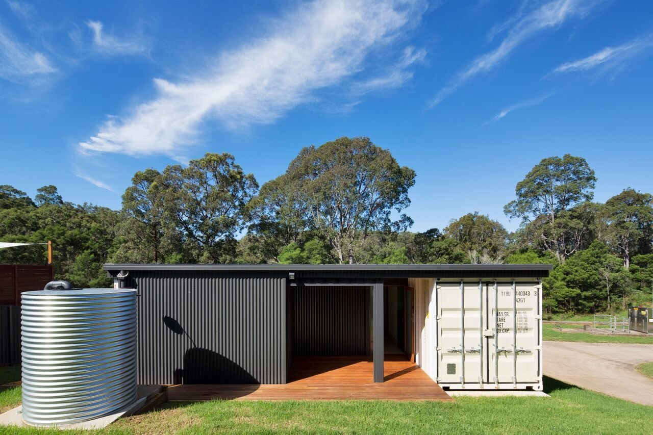 a shipping container home in australia made with eco friendly materials - Eco Friendly Shipping Container Homes