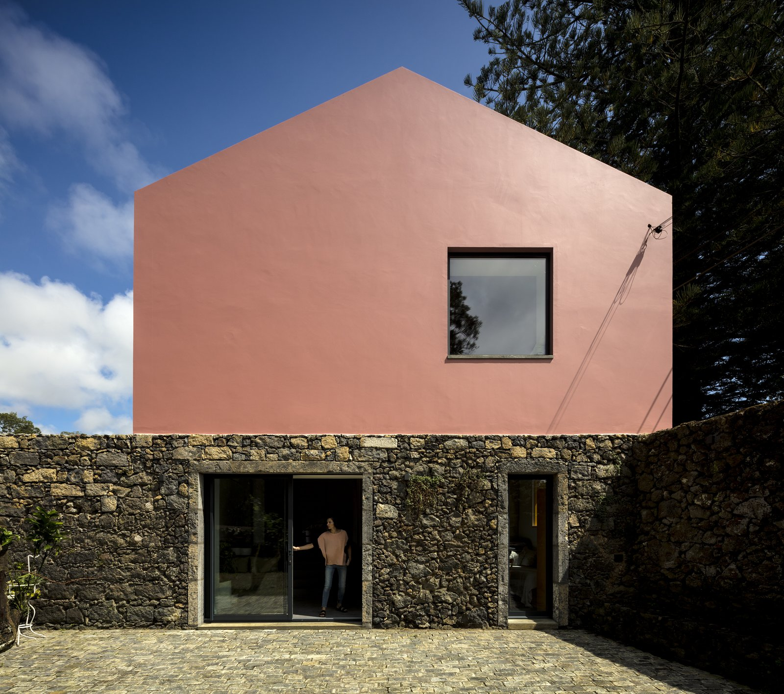 Tagged: Exterior, Stucco Siding Material, and Stone Siding Material.  Pink House by joana garcia oliveira