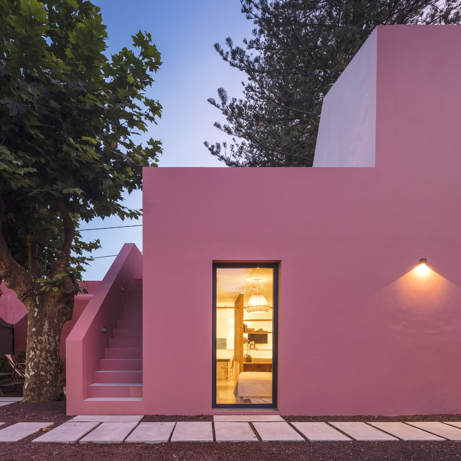Tagged: Exterior and Stucco.  Best Exterior Stucco Photos from Pink House