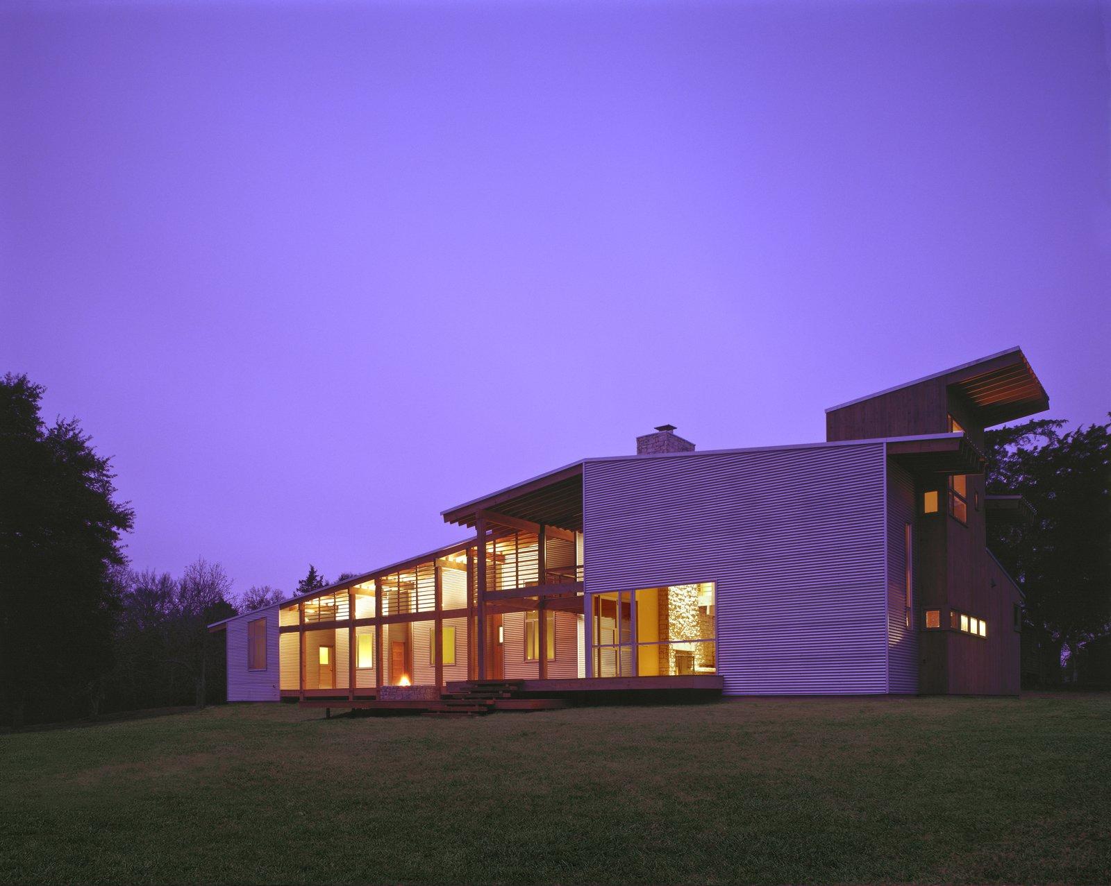 Lummis Residence at Dusk