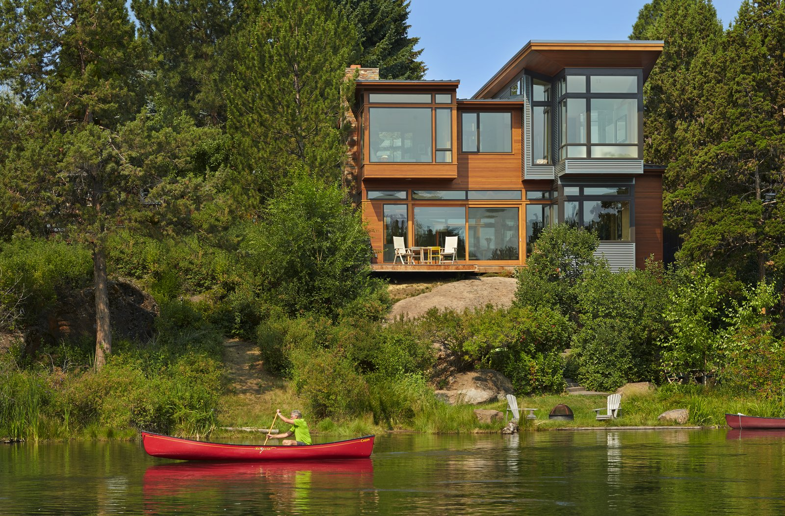 Exterior view of house from Deschutes River