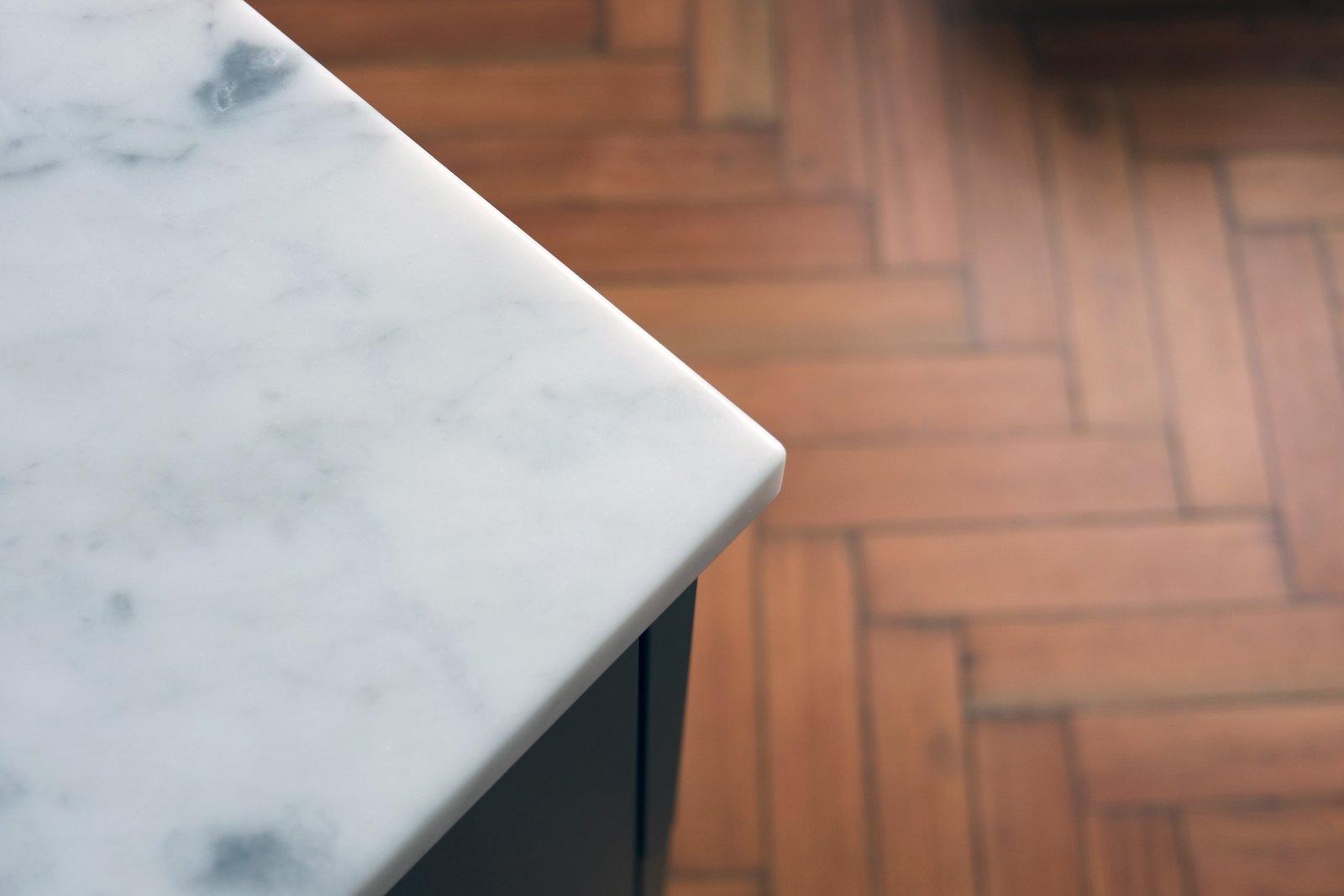 Carrara marble bathroom worktops