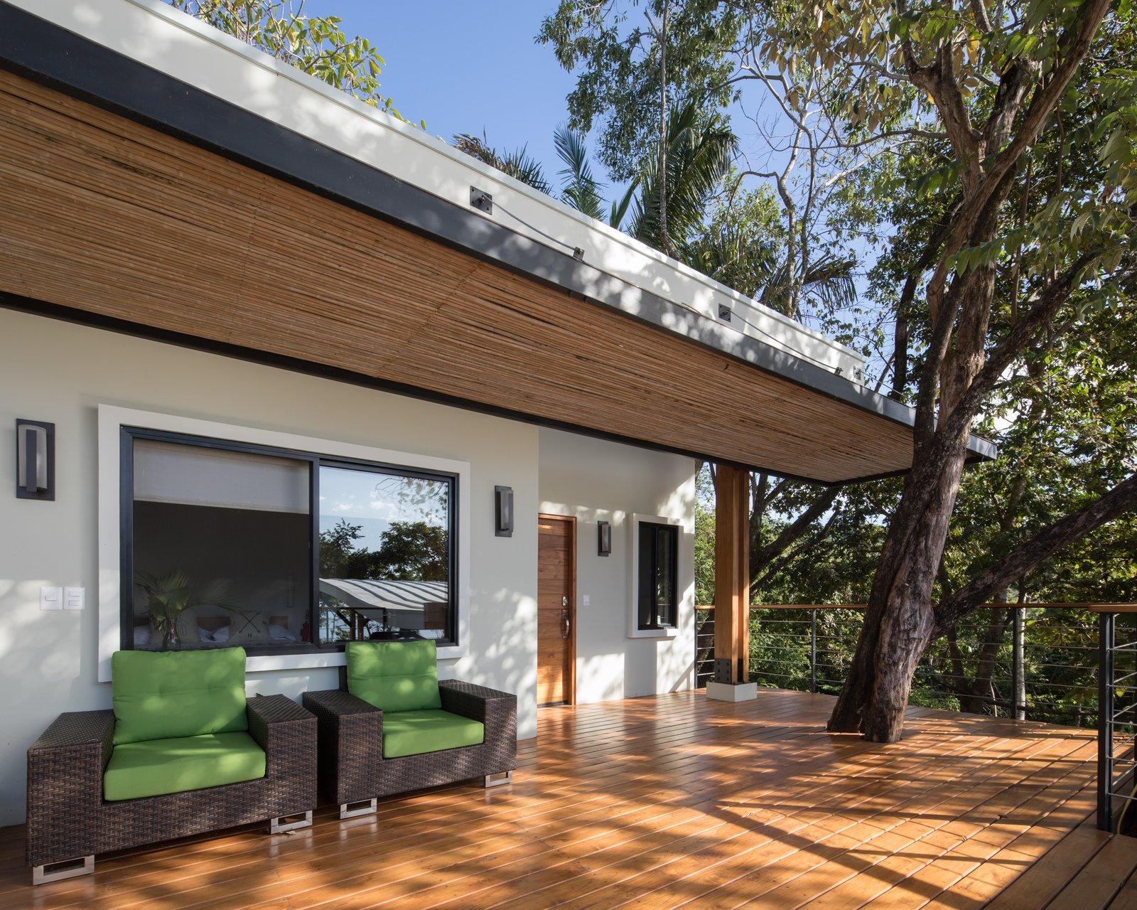 Balcony with tree insert
