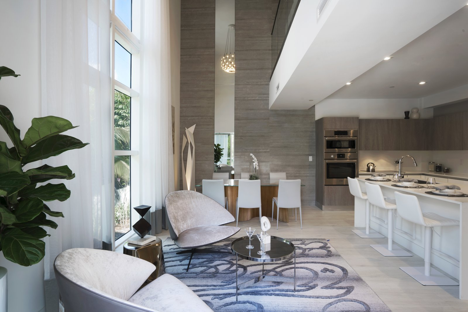 Chef-inspired kitchen, formal dining and seating area