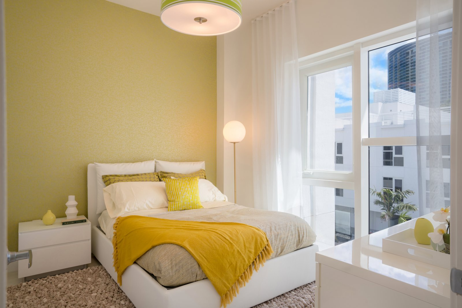 First Bedroom featuring a vibrant color palette